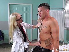 Madison Scott is working in the hospital and often having sex with her handsome patients