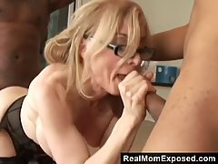 Nina Hartley is sucking many dicks in front of the camera because she likes doing it