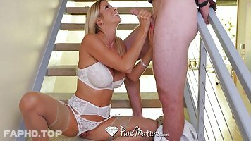 Astonishing blonde woman, Alexis Fawx is cheating on her husband with a guy she likes a lot